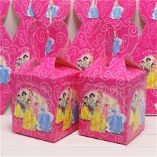 princess candy bags 20pcs hot party candy paper boxes birthday theme princess favors