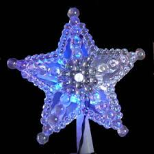 morphing led laser bead tree topper northern lights and trees