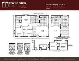 schult modular home floor plans schult integrity 4428 21 excelsior homes west inc