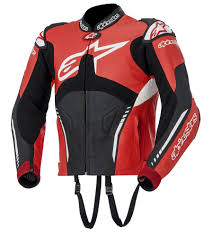 red motorcycle jacket alpinestars atem custom leather jacket replica black white red