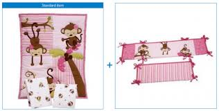 Portable Crib Bedding Nojo 3 Monkeys 3pc Portable Crib Bedding Set Just 36