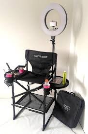 portable light for makeup artist tuscanypro folding compact makeup artist chair w 18 led ring light
