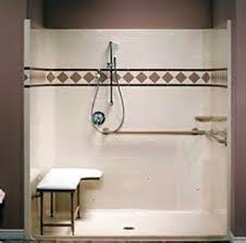 handicap roll in shower transitional bathroom atlanta by with