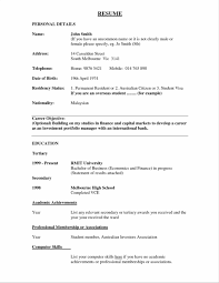Resume For Manufacturing Resume For A Bank Sample Resume123