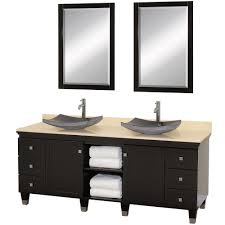dark stained wood double sink bathroom vanities decorating