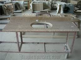 Bathroom Vanity Worktops G682 Sunset Gold Granite Dupont Edge Bathroom Vanity Tops