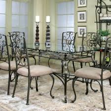 dining room cart rectangle glass dining table
