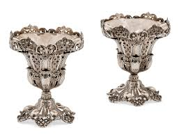 a pair of ottoman silver cups turkey period of sultan u0027abd al