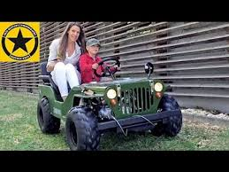 small jeep for kids children jeep kids willys jeep little boy 3 drives mummy around