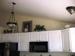 Ideas For Decorating On Top Of Kitchen Cabinets by Above Kitchen Cabinets Ideas Red Counter Floating Cabinet Gray