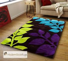 Red Turquoise Rug Black Red Orange Purple Lime Green Blue Orange Funky Rug Designs