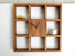 large wall clock shadow box shelf rustic centerpiece wall