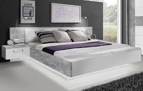 Schlafzimmer Mit Betten In Komforth E Forte Bett Rondino Weiß Hochglanz Sandeiche Nachbildung Möbel