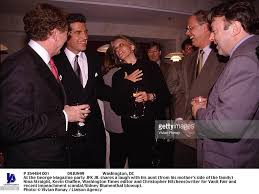 at the george magazine party jfk jr shares a laugh with his aun