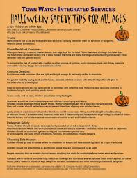 halloween safety tips town watch halloween safety