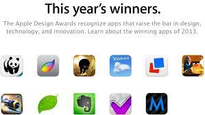 apple design apple announces 2013 design awards winning apps include