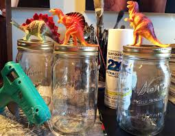 Kitschy Home Decor by More Dino Licious Kitsch U2026diy Jar Toppers From Thrift Store Toy