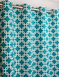 Curtains With Turquoise True Turquoise Teal White Gotcha Modern Chain Link Curtains