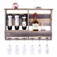 dakota love reclaimed wood barnwood bar u2013 inverted wine rack shelf a