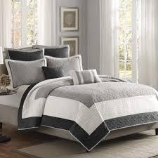 Cream And Black Comforter Modern Ivory U0026 Cream Bedding Sets Allmodern