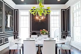 black and white dining room ideas black and white dining room ideas easy wall molding ideas to