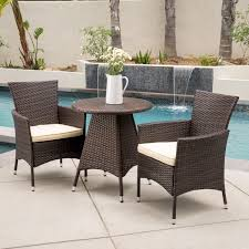 home depot pillows black friday melissa outdoor 3 piece wicker bistro set with cushions by