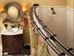 spring loaded shower curtain rod curtain ideas