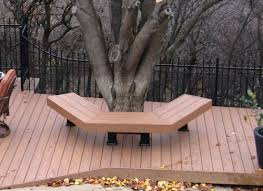 Bench Around Tree Plans I Want A Bench And Mini Deck Around Our Elm But I Am Not In Love
