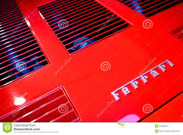 ferrari horse logo logo of ferrari horse on a cowl of sport car editorial photography