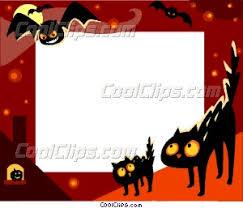 halloween frame vector clip art