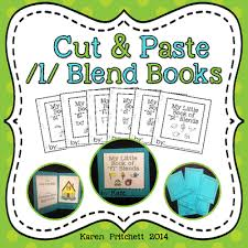 cut and paste mini books for l blends no laminating ink saver