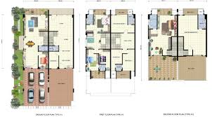 Row House Floor Plan 100 3 Storey House Modren 3 Story House Floor Plans Bedroom