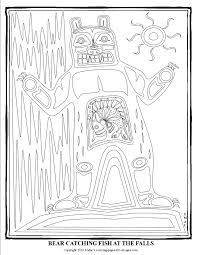 pacific northwest native american art coloring pages s mac u0027s