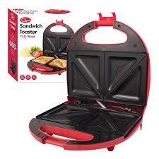 Easy Clean Toaster Quest Sandwich Maker 700 Watt Black Amazon Co Uk Kitchen U0026 Home