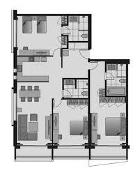 three bedroom apartments floor plans shama sukhumvit bangkok three bedroom apartment