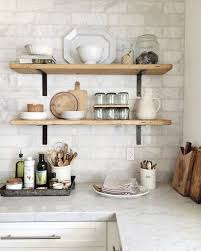 kitchen wall shelving ideas open shelving subway tile our kitchen progress update marley