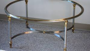 coffee tables oval glass coffee table metal frame stunning round