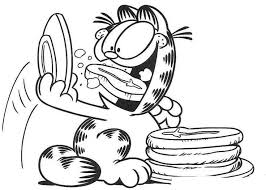 food garfield coloring page comic book coloring pages