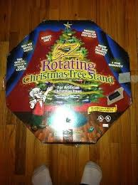 rotating christmas stand pack black velvet top electric motorized