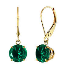 emerald drop earrings emerald drop earrings earrings for jewelry watches jcpenney