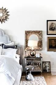 Headboard Wall Decor by Z Gallerie Nightstand Ideas For Eclectic Bedroom With Art Wall