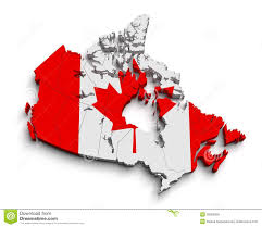 Canada Flag Colors 3d Canada Flag Map On White Stock Illustration Image 30569269