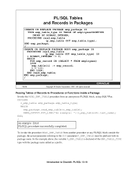 Oracle Pl Sql Resume Sample by Introduction To Oracle 9i Pl Sql Part 2