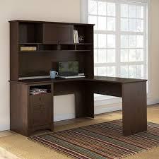 overstock l shaped desk bush furniture buena vista l shaped desk with hutch in