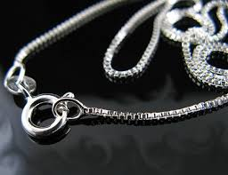 box chain necklace silver images New 925 polished sterling silver 1 00mm box chain necklace jpg