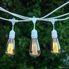 permanent outdoor string lights white commercial string lights