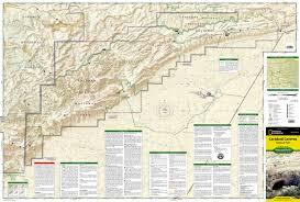 New Mexico Zip Code Map by Carlsbad Caverns National Park National Geographic Trails