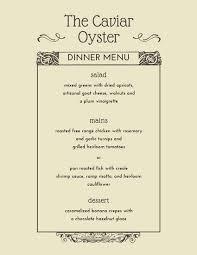 elegant menu templates canva