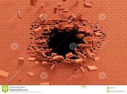 breaking brick wall royalty free stock photography image 34619757