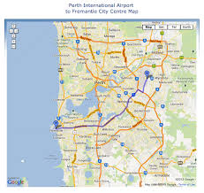 maps driving directions perth international airport to fremantle driving directions map